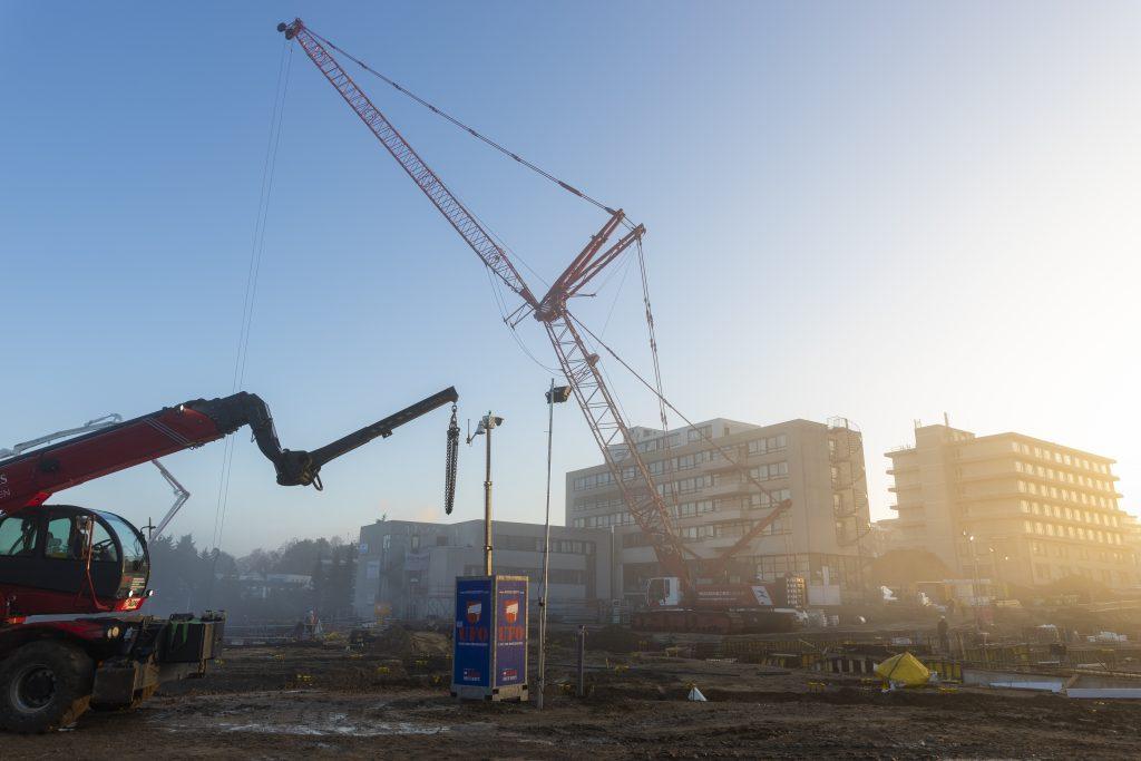 Stijger op de bouwplaats